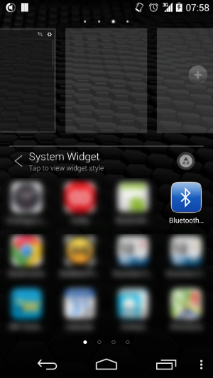 Installing Bluetooth widget on home screen