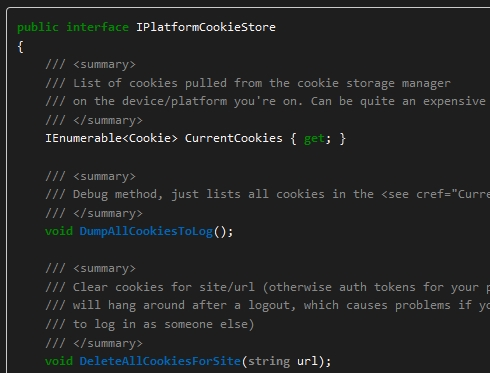 Xamarin Forms - Quick and Dirty Cookies Access (iOS and Android